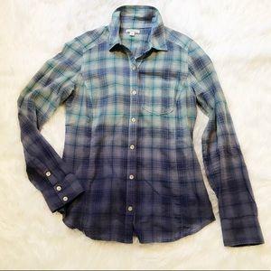 Caslon Ombré Flannel Style Shirt